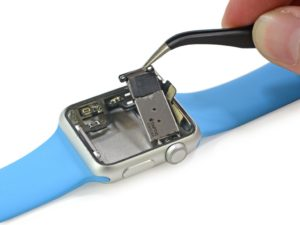 Die Bauteile der Apple Watch (Foto: iFixit)