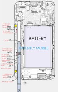 Das Patent zum neuen Samsung Stylus. (Bild: Patently Mobile)