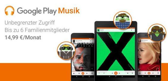 Das Google Play Familienabo (Bild Google)