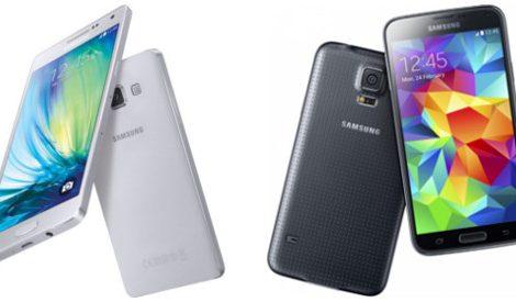Samsungs A5 gegen das S5 (Bild Samsung)